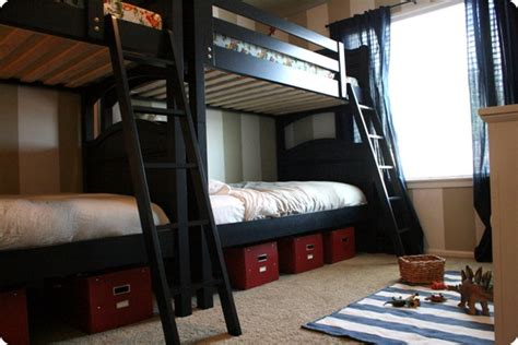 Two Bunk Beds In One Room The Boys Room Jones Design Company