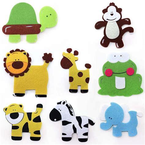 maple craft 5 quot stiffened felt animal cutout shapes pack
