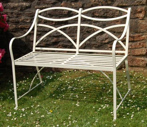 small metal garden bench classic benches in wrought iron