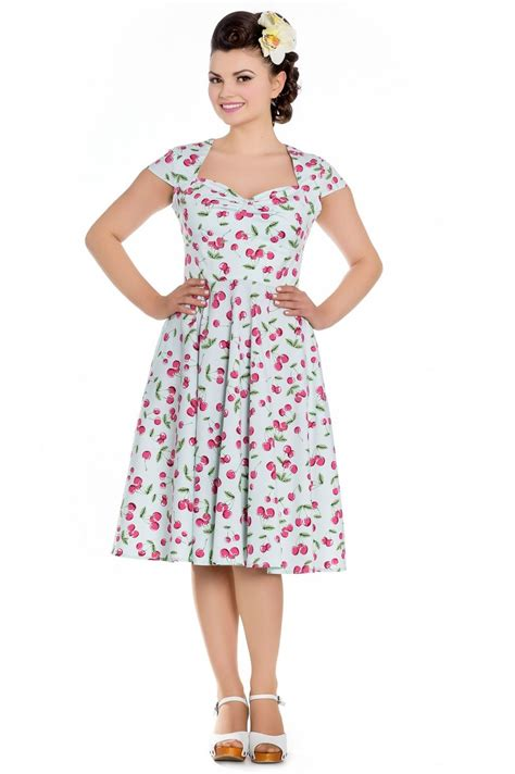 hell bunny april 50 s vintage swing pin up cherry dress