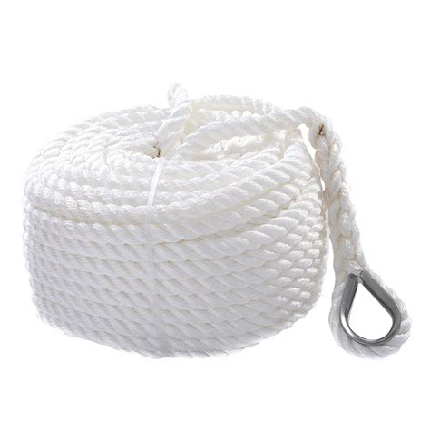 boat anchor rope 1 2 quot x150 twisted three strand 6600lbs nylon anchor rope