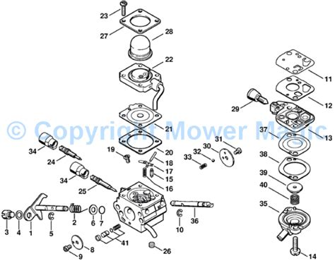stihl fs100rx parts diagram stihl fs 45 parts list also stihl fs90 parts diagram