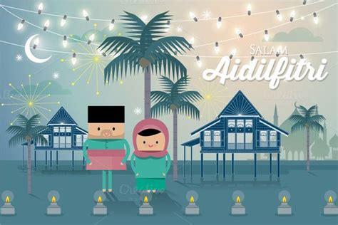 Hari Raya Card Template by Hari Raya Greeting Template Vector Template Eid And Eid