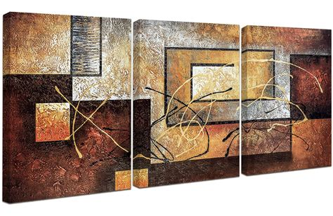 abstract canvas  panel framed ready  hang painting