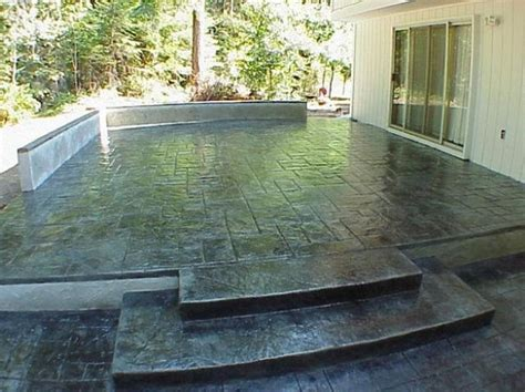 stain patio on stained concrete patios