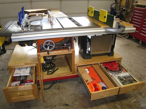 table saw router table woodworking plan self containted tablesaw router and planer workstation
