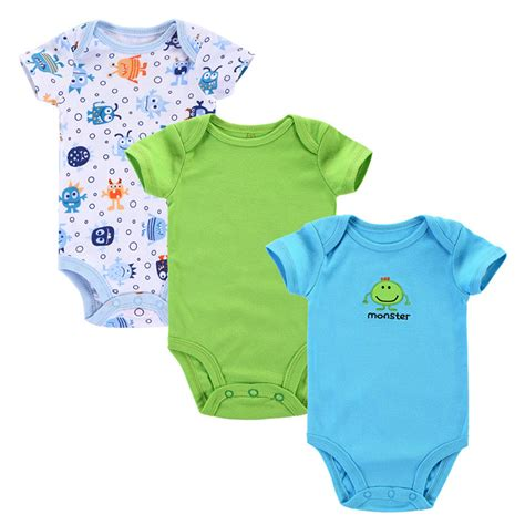 Clothes Baby 1 3pcs lot baby romper 2015 summer baby clothing newborn baby boy clothes baby overall bebe