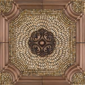 Tile Medallions For Kitchen Backsplash Metal Mural Romeo Mosaic Tile Backsplash