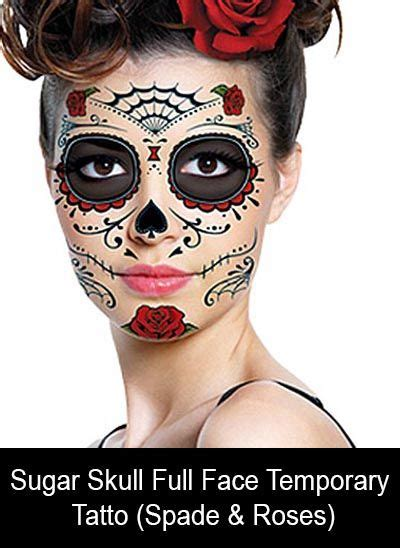sugar skull temporary tattoo sugar skull temporary spade roses