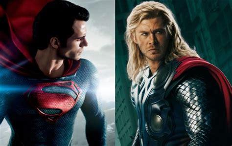 Movie Thor Vs Man Of Steel Superman   movie superman man of steel version vs movie avengers thor