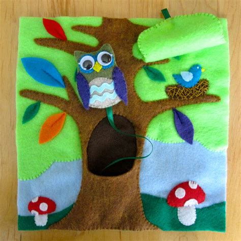 patterns for quiet book pages owl in a tree with free pattern i am now completely