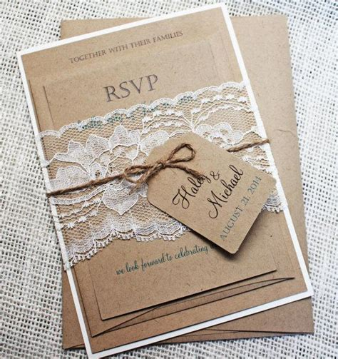 diy wedding invitation kits rustic diy rustic wedding invitation kit eco kraft and rustic
