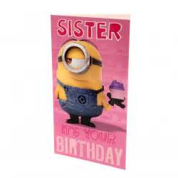 despicable me minion birthday card for only c 4 80 at merchandisingplaza ca