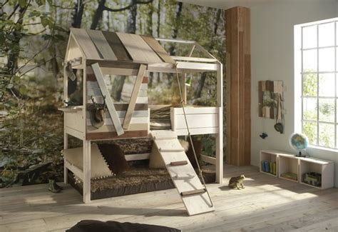 Treehouse Bunk Bed Plans Lifetime Treehouse Bed Inhabitots