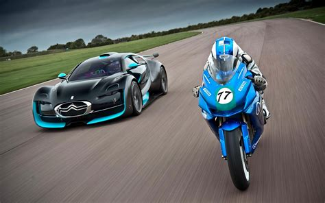 sports car  bike race hd wallpapers rocks
