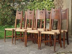 Set Dini As set of eight william birch dining chairs in ash antiques atlas