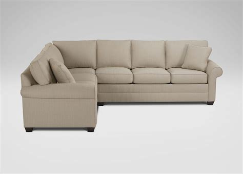 sectional sofas ethan allen ethan allen sectional sofa bennett roll arm sectional