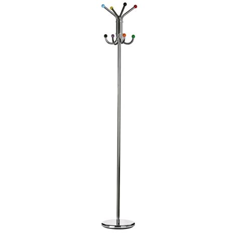 Floor Standing Coat Stand by Floor Standing Coat Stand In Chrome With Multicolour Balls H