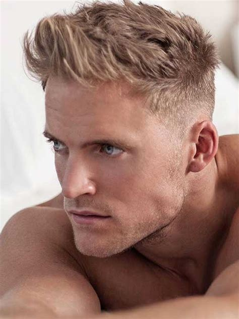 a short blonde hairstyle from the 2015 mens collection 100 mens hairstyles 2015 2016 trend haircuts
