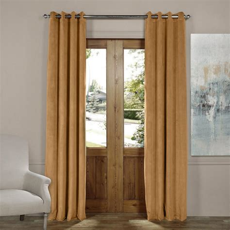 Gold Grommet Curtains Home Decorators Collection Hdc Velvet Lined Back Tab Curtain Taupe 50 In W X 108 In L