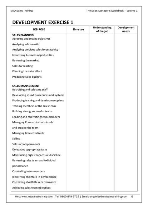 sales manager s guidebook volume 1 sales planning
