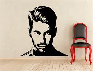 Interior Stickers For Walls sergio ramos wall vinyl decal real madrid football sticker