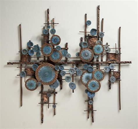 Pine Needle Heavy Metal Detox by Hannie Goldgewicht Copper And Bronze Wall Sculptures