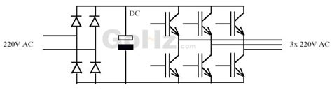 single phase to three phase converter circuit diagram convert single phase to three phase power supply gohz
