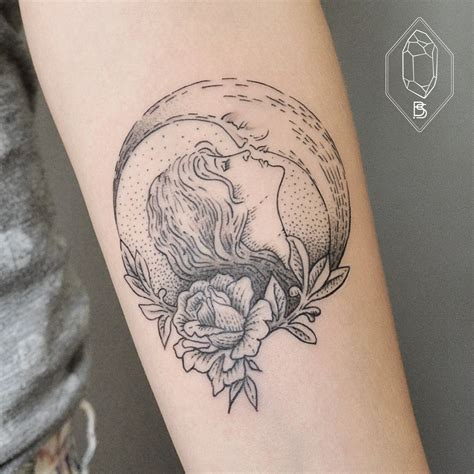 half sun half moon tattoo 90 wonderful moon tattoos
