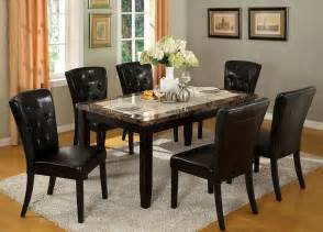 marble table top dining room set image