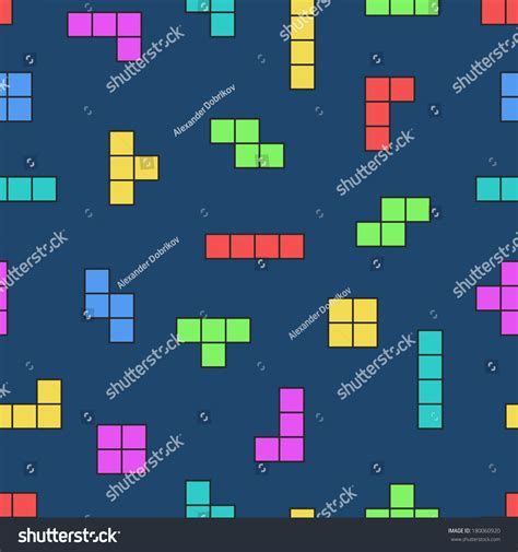 simple pattern online games tetris elements vector seamless pattern game background