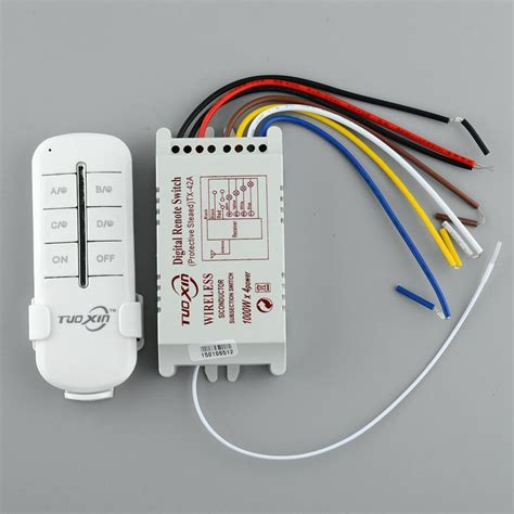 computer controlled light switch wireless 220v 4 channel light switch wireless digital remote