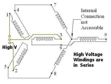 high voltage motor wiring diagram motor high voltage