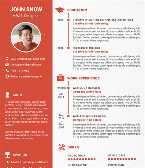 Web Resume Template by 16 Designer Resume Template Sles Exles Format