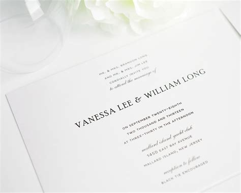 Simple Wedding Invitation Card by Beautiful Basic Wedding Invitations Simple Wedding