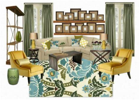 blue green yellow living room pottery barn pearce sectional blue green and yellow living room mood board mood boards