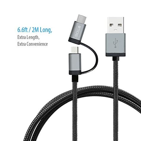 android usb resistor trond 2 in 1 usb 2 0 type c charger cable braided 6 6ft 56kω pullup resistor sync