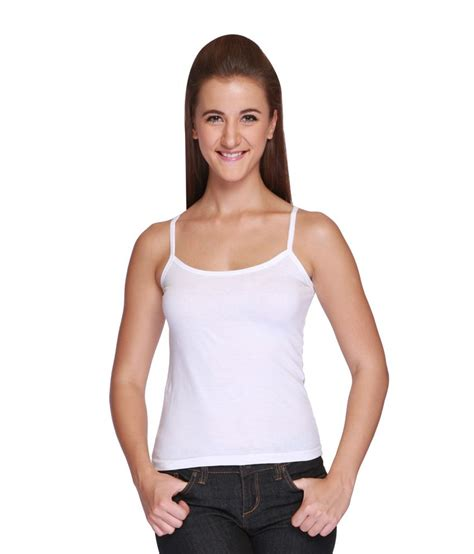 buy wako white cotton camisoles at best prices in india snapdeal