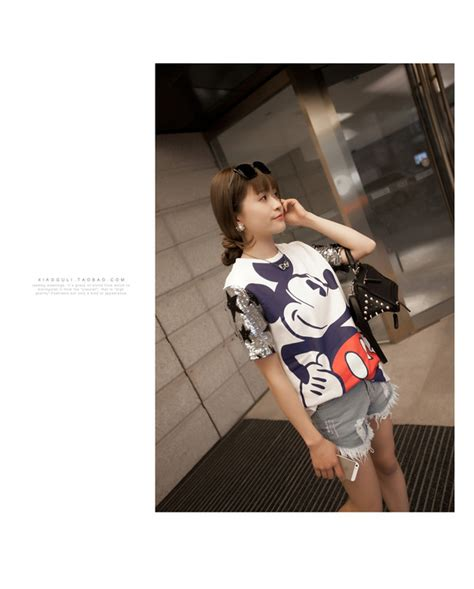 Hem Pocket Mickey Blouse aliexpress buy new 2014 t shirt mickey mouse
