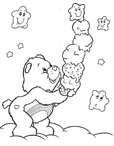 Carebears Coloring Pages care coloring pages free printable pictures