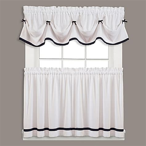 bed bath and beyond curtains and window treatments kate window curtain panel and valance bed bath beyond