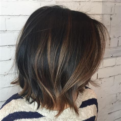 black bob with brown highlights 50 chocolate brown hair color ideas for brunettes