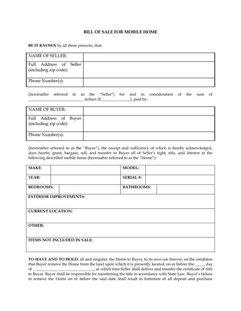 Vin Verification Letter Florida Free Printable Rv Bill Of Sale Form Form Generic