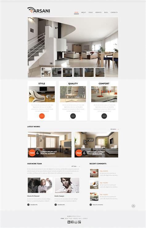 Respectable Interior Design Wix Website Template 46257 Wix Website Templates Reviews