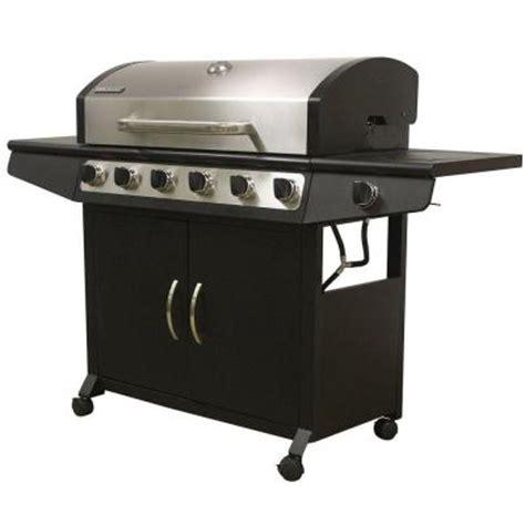 brinkmann 6 burner propane gas grill with side burner