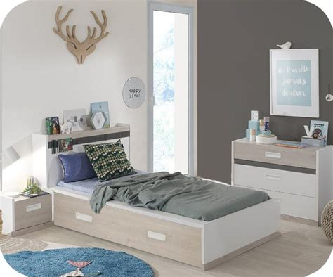chambre enfant chambre enfant il 233 o blanche et bois set de 4 meubles