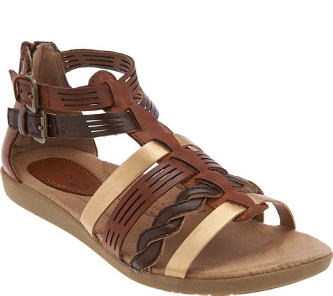 Sendal Wedges Sendal Wanita Ss09 earth origins leather multi sandals page 1 qvc