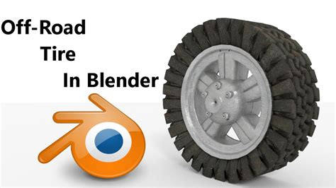 blender tutorial tire how to create a off road tire in blender blendernation