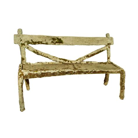 faux bois garden bench whimsical french faux bois garden bench at 1stdibs