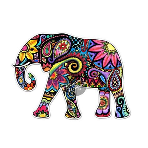 colorful elephant colorful elephant design www imgkid the image kid
